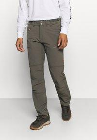 Norrøna - SVALBARD FLEX PANTS - Pantaloni outdoor - dark grey - 0