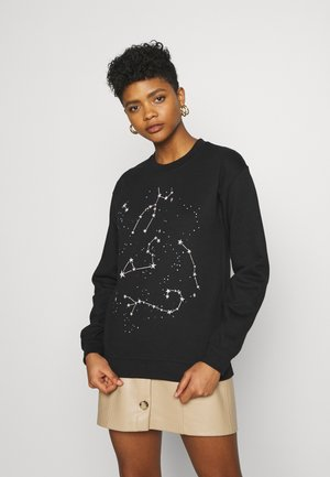 COSTELLO STAR GRAPHIC SWEATER - Sweatshirt - black