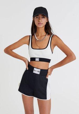 BOXER LOOK MIT COLOUR BLOCK - Shorts - black