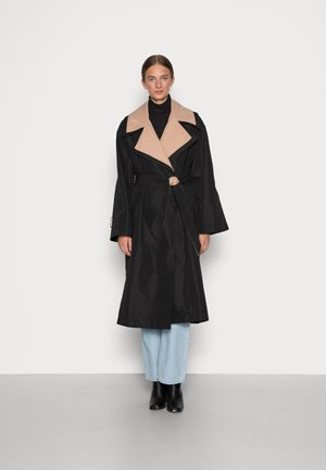 ELSEWHERE TRENCH - Trenchcoat - black/tan