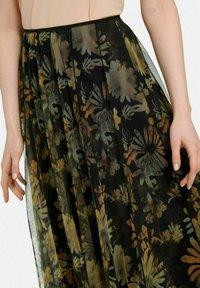 MARGITTES - Pleated skirt - schwarz/multicolor - 4