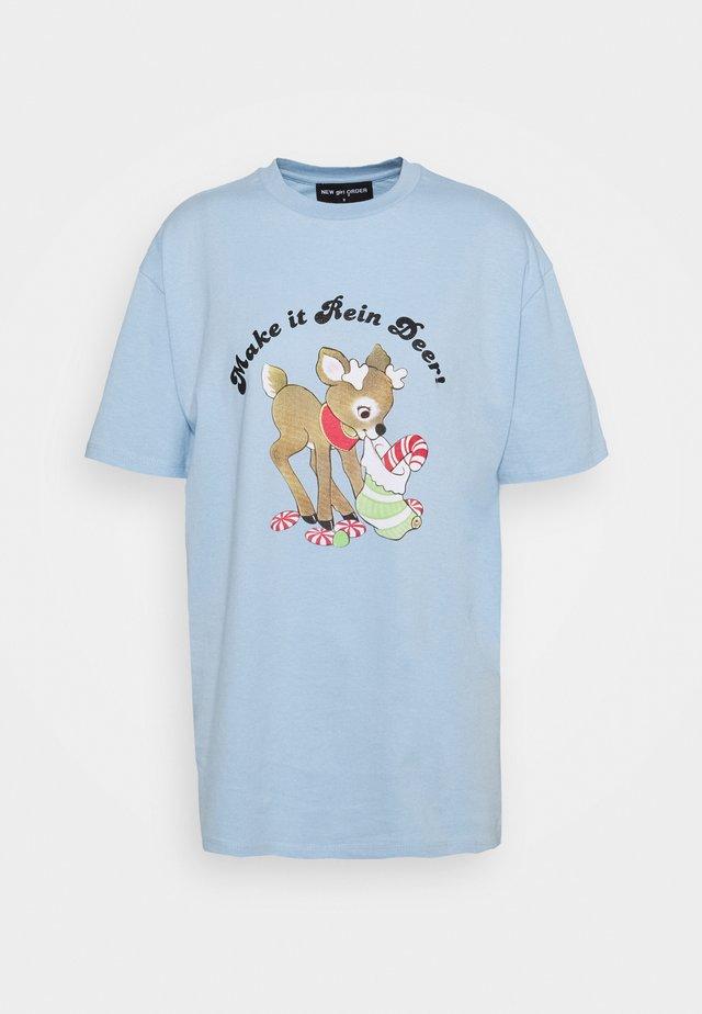 MAKE IT REIN DEER - T-Shirt print - blue