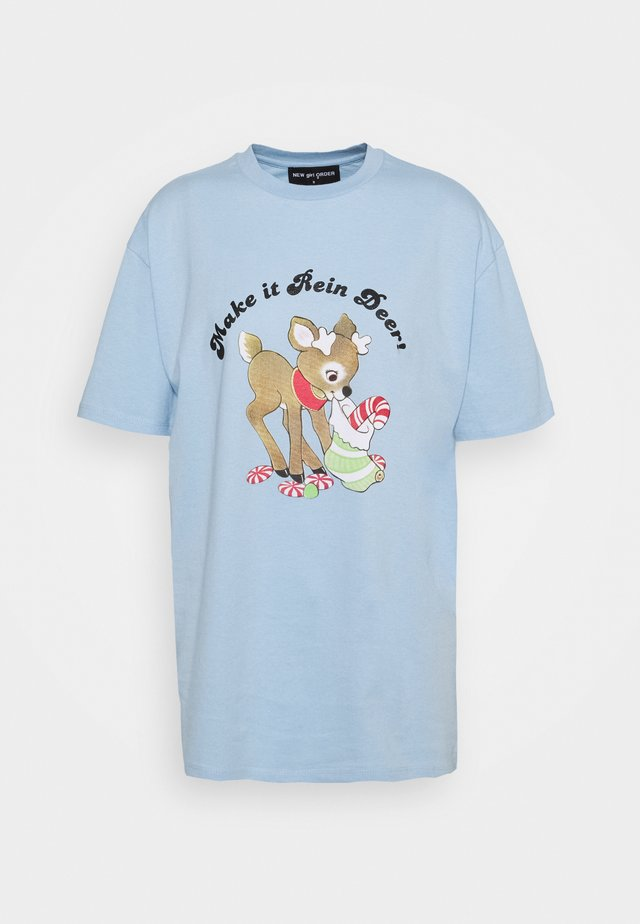MAKE IT REIN DEER - T-shirts print - blue