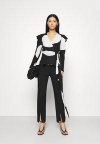Who What Wear - WRAP  - Blouse - black/white - 1