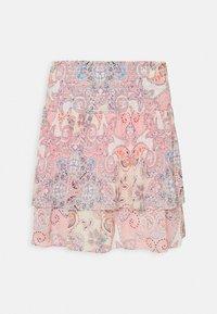 ONLY - ONLALLY SMOCK LAYERED SKIRT - Mini skirt - sugar coral/desert - 5