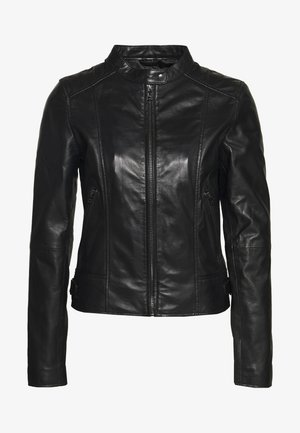 JUDITH - Leather jacket - black