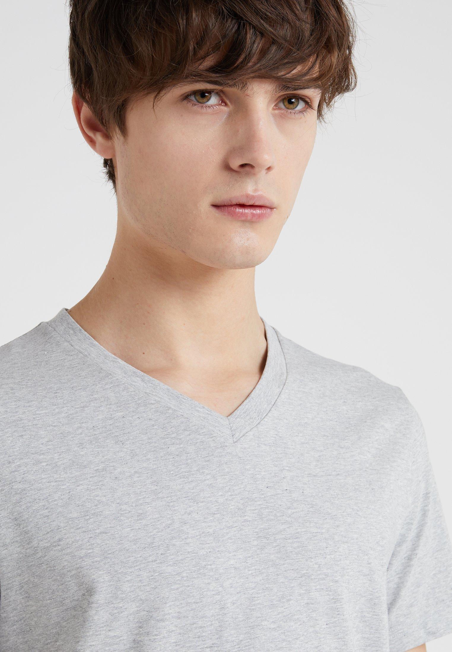 Filippa K SOFT LYCRA NECK - Basic T-shirt - light grey melange lC5uT