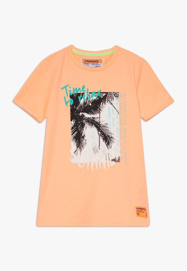 HAFSSA - T-shirt imprimé - neon orange