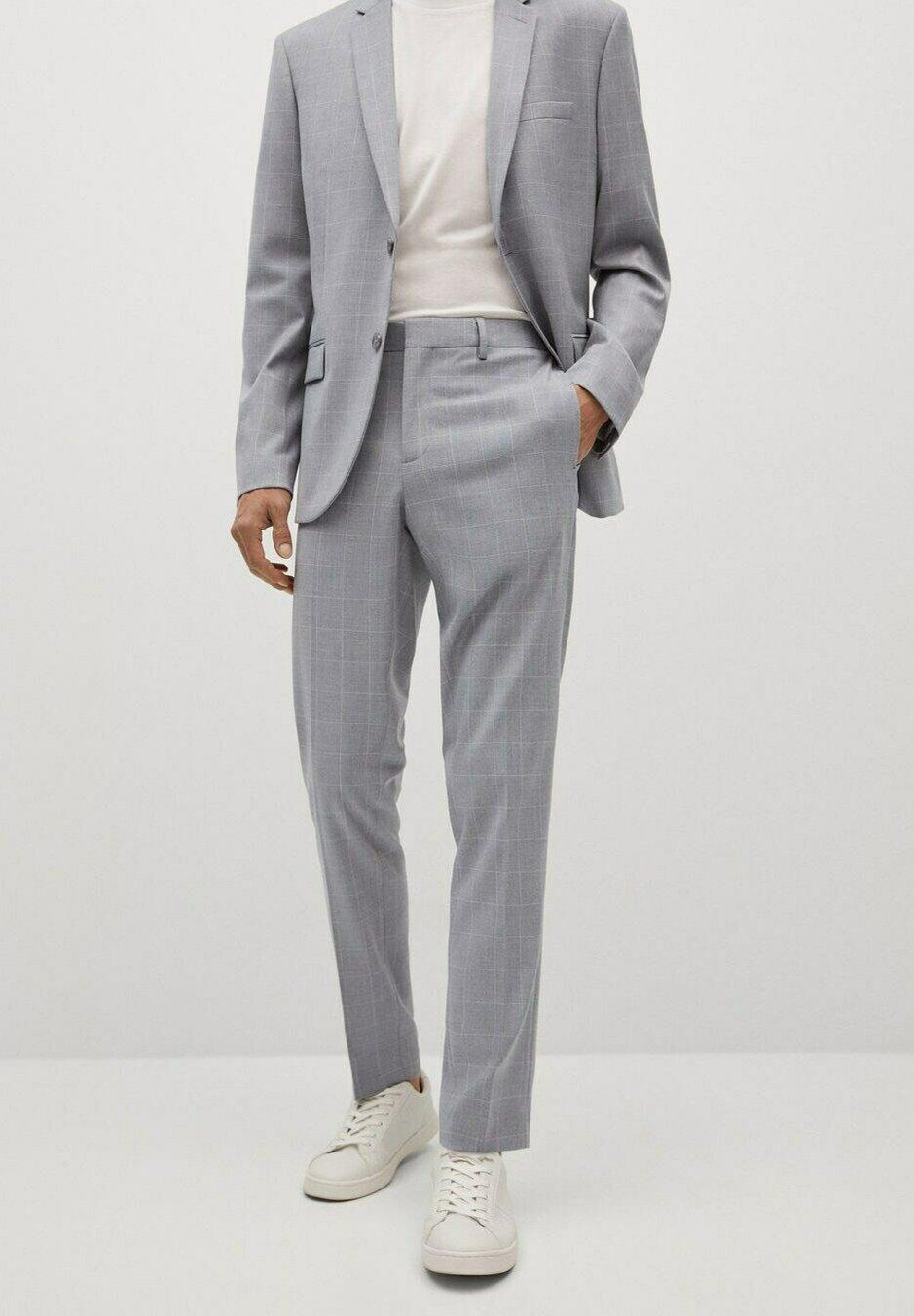 Homme KARIERTE SUPER SLIM FIT - Pantalon de costume