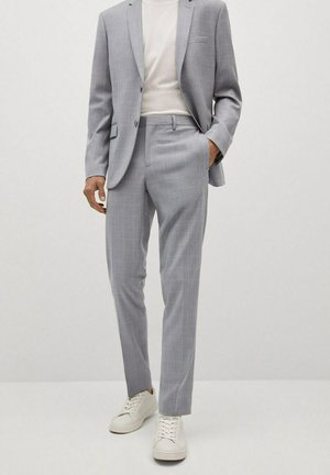 KARIERTE SUPER SLIM FIT - Suit trousers - grau