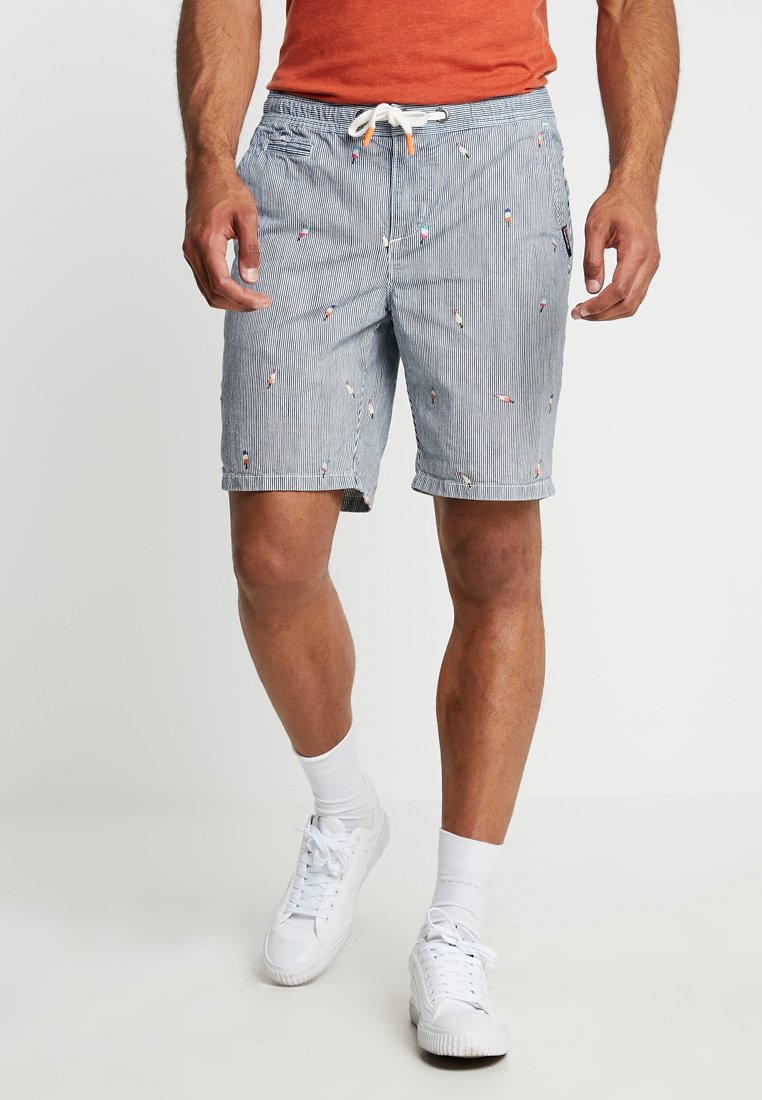 Superdry - SUNSCORCHED - Shorts - blue/white/orange