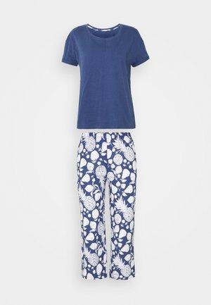 FLORAL SET - Pyžamo - blue