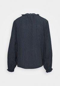 TOM TAILOR DENIM - STRIPED RUFFLE NECK BLOUSE - Blouse - dark blue - 1