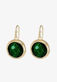 ELDINA PENDANT EAR - Earrings - gold-coloured/green