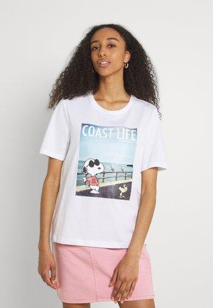 ONLPEANUTS LIFE BOXY VACAY - T-shirt imprimé - bright white