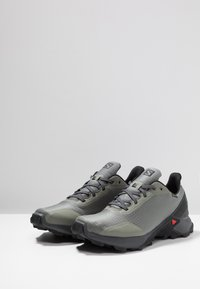 Salomon - ALPHACROSS GTX - Trail running shoes - castor gray/ebony/black - 2