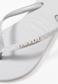 Havaianas - SLIM GLITTER - Pool shoes - steel grey - 2