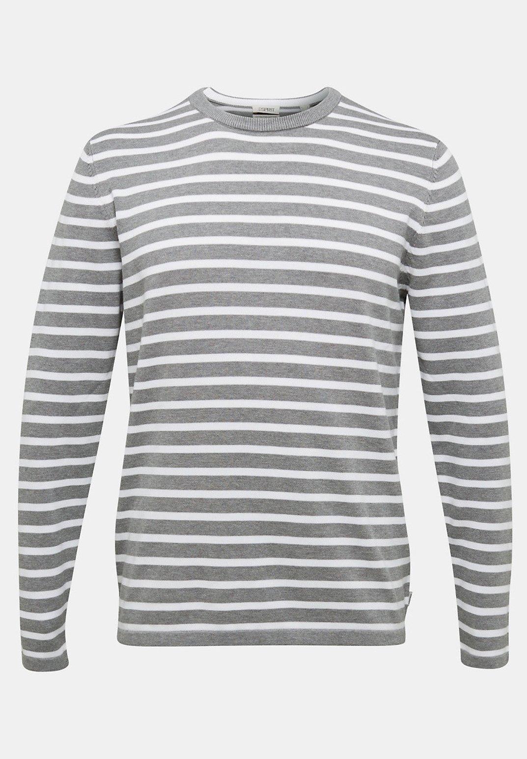 Esprit Gestreifter - Sweater Medium Grey