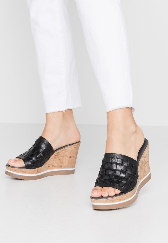 MARY - Mules à talons - light black