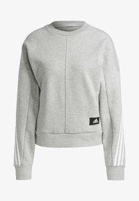 adidas Performance - ADIDAS SPORTSWEAR WRAPPED 3-STRIPES SWEATSHIRT - Sweatshirt - grey - 6