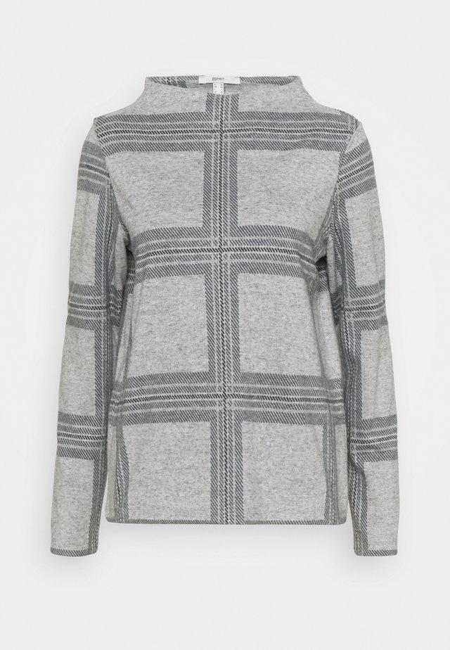 H NECK  - Sweter - light grey