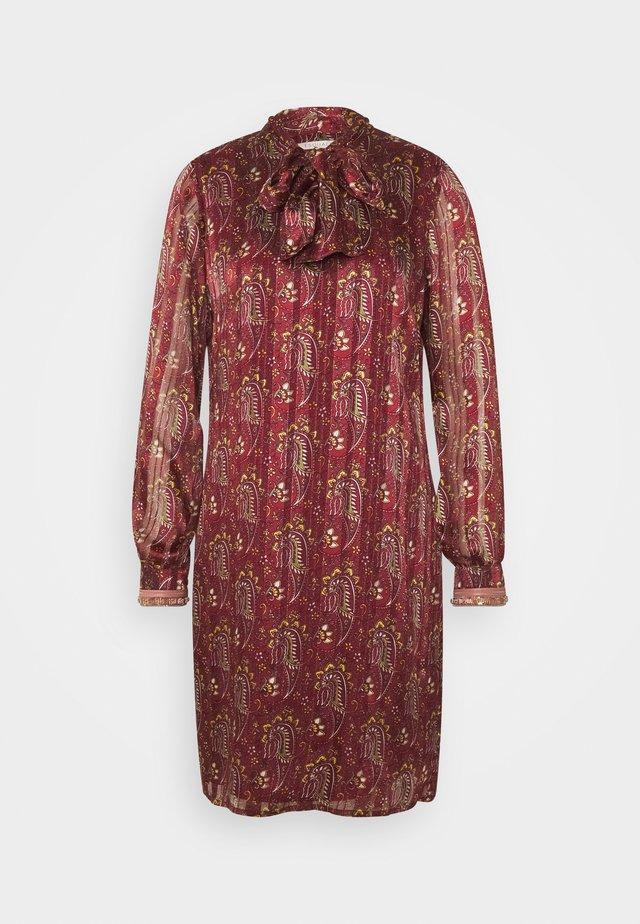 Korte jurk - plum