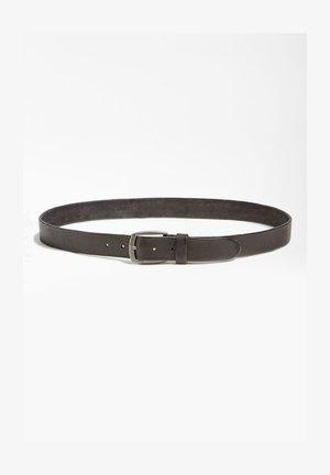GÜRTEL ECHTES LEDER - Cintura - schwarz
