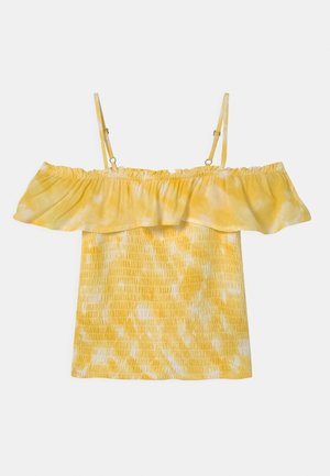 SMOCKED RUFFLE TUBE - Blouse - yellow