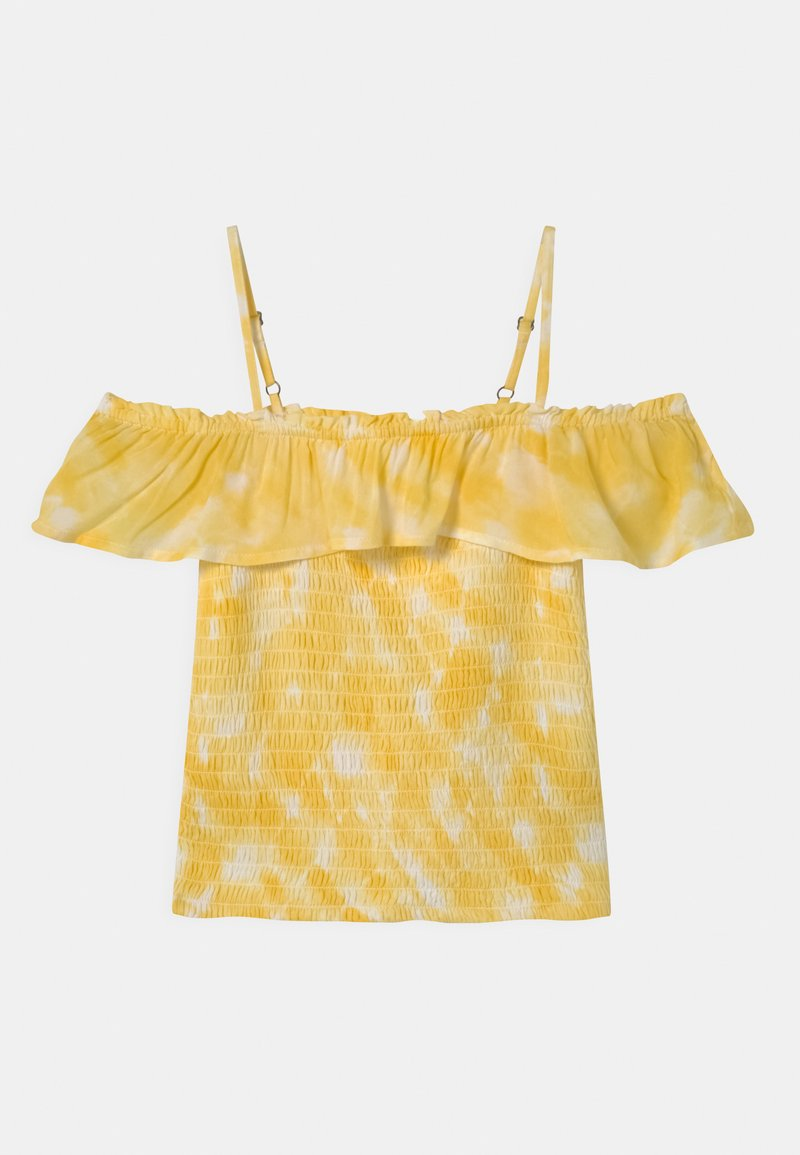 Abercrombie & Fitch - SMOCKED RUFFLE TUBE - Blouse - yellow