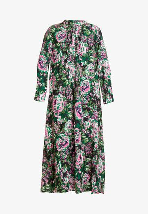 DRESS WITH PIN TUCKS - Robe d'été - multi-coloured/black/neon pink