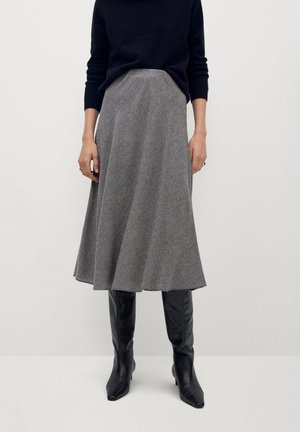 PAOLA - A-line skirt - gris