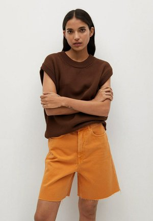 Shorts di jeans - oranje