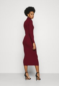 Missguided - ROLL NECK MIDI DRESS - Gebreide jurk - deeper red - 2