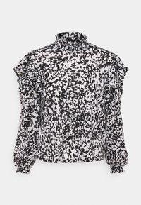 ONLPELLA HIGH NECK FRILL - Long sleeved top - black