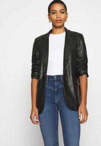 Calvin Klein - HIGH RISE - Jeans Skinny Fit - dark blue - 4