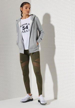 Zip-up hoodie - grey marl