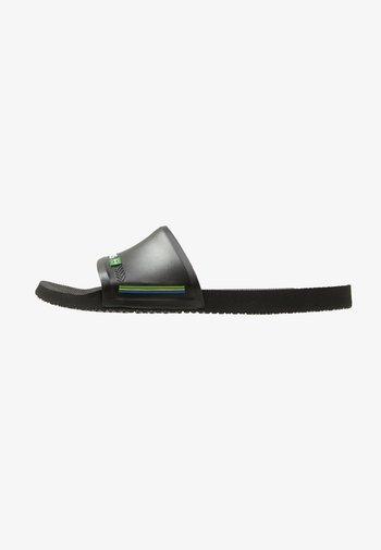 SLIDE BRASIL - Sandali da bagno - black
