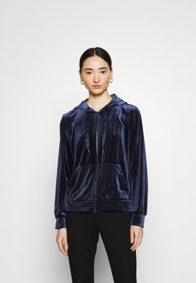 VIVELVETTA ZIP HOODIE - Bluza rozpinana - navy blazer