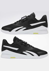 Reebok - LIFTER PR II - Sports shoes - black/white/chartr - 10