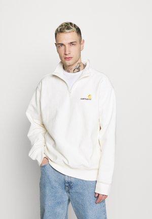 HALF ZIP AMERICAN SCRIPT - Sweatshirt - wax