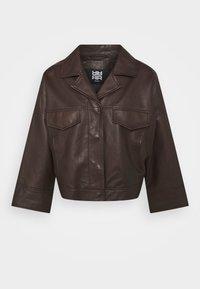 RIANI - Leather jacket - onyx brown - 0