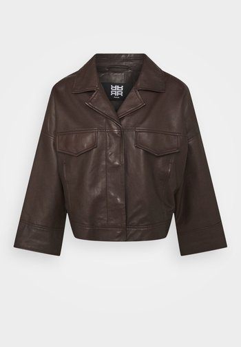 Kožená bunda - onyx brown