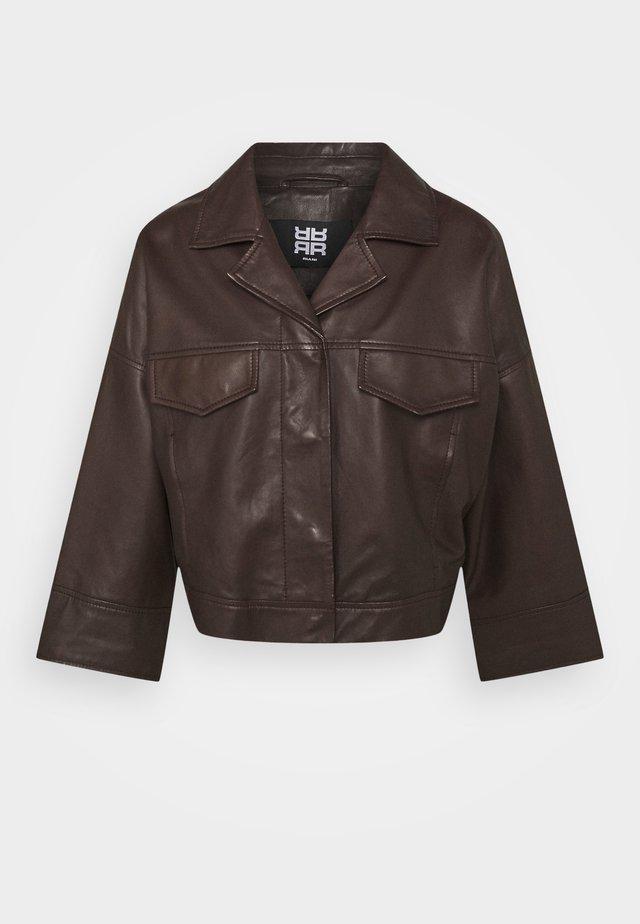Leren jas - onyx brown