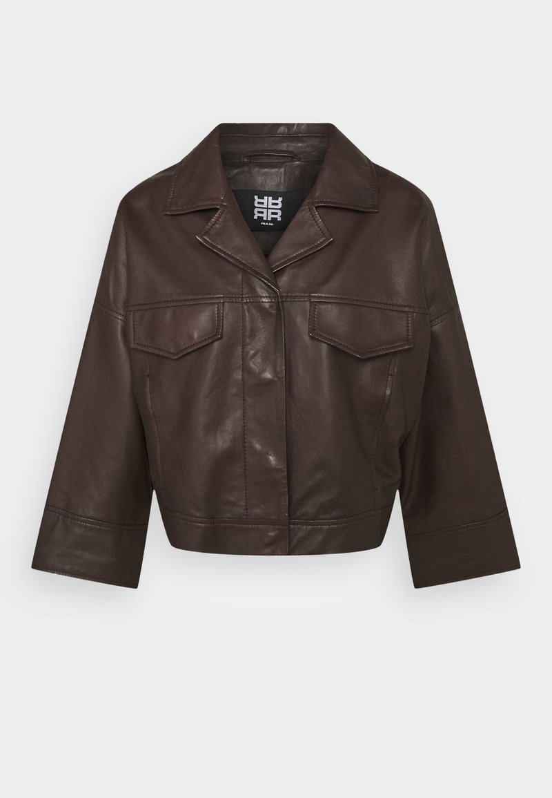 RIANI - Leather jacket - onyx brown