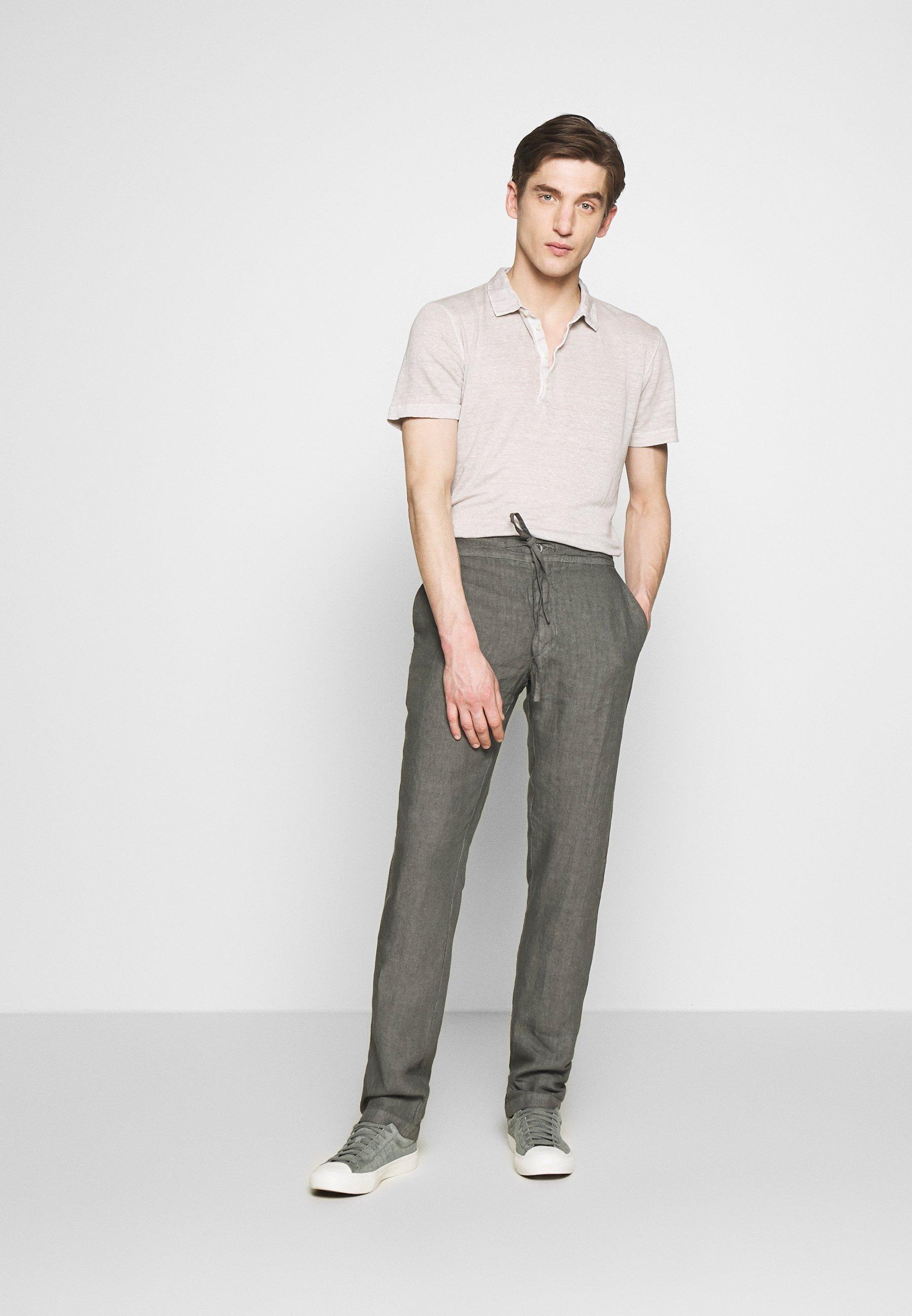 120% Lino TROUSERS - Pantalon classique - elephant sof fade