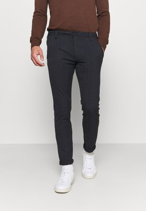 SLHSLIM STORM FLEX SMART PANTS - Bukse - dark sapphire/check