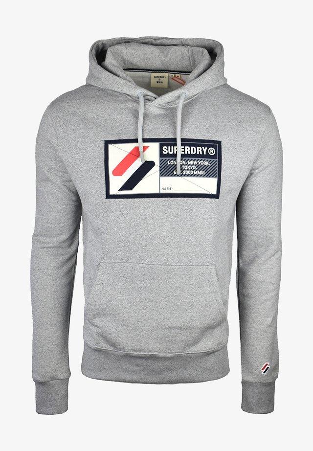 Hoodie - grey slub grindle