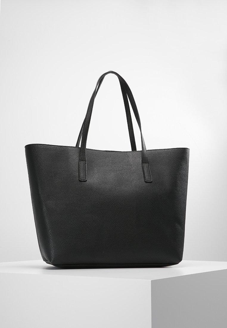 Even&Odd - Tote bag - black/red
