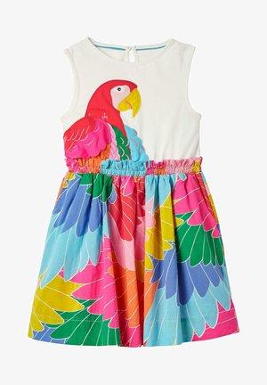 Day dress - bunt, fantastischer papagei