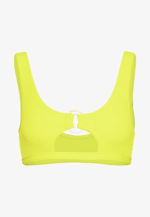CRINKLE RING CUT OUT CROP - Bikini top - yellow